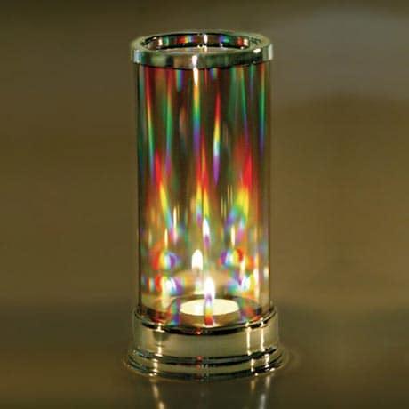 Rainbow Prism Crystal Candleholder