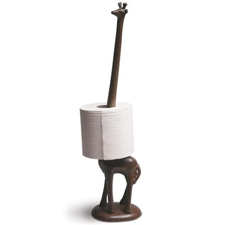 CAST IRON GIRAFFE PAPER HOLDER