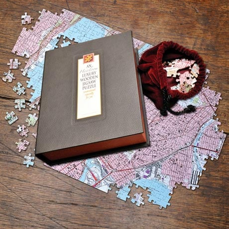 Personalized Hometown Map Jigsaw Puzzle: Heirloom Edition