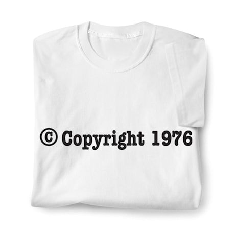 Personalized © Copyright Birth Year Shirt