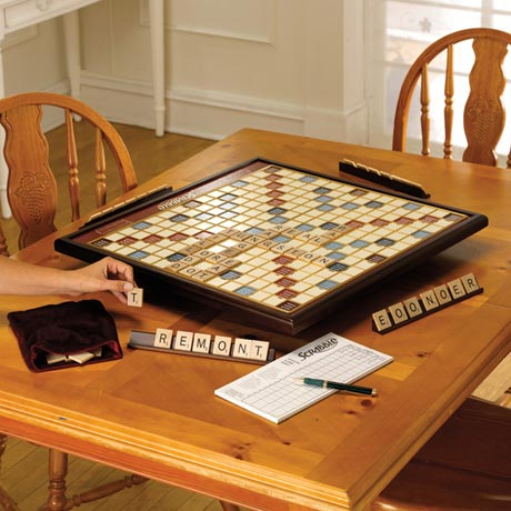 Giant Scrabble Deluxe with Rotating Board and Raised Grid