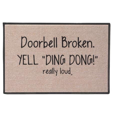 Yell Ding Dong! Doormat 27''x 18''