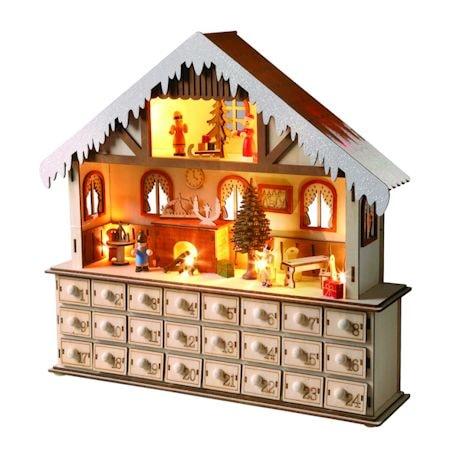 Lighted Santa's Workshop Advent Calendar