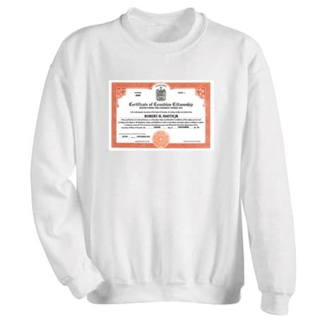 Personalized Canadian Citizenship Shirts