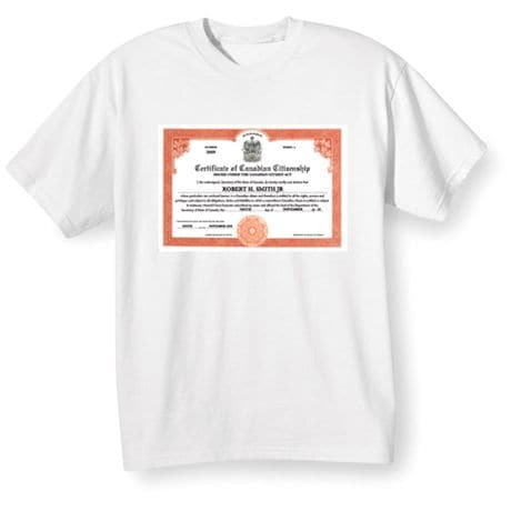 Personalized Canadian Citizenship Shirts