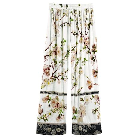 Women's Blossom Lounge Pants - Elastic Waist Band and Side Pockets