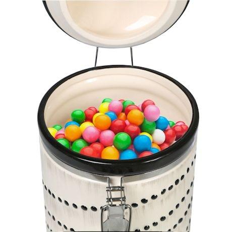Sealable Ceramic Cat Treat Cookie Jar