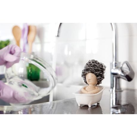 Soap Opera Dish Scrubber Holder for Kitchen Sink