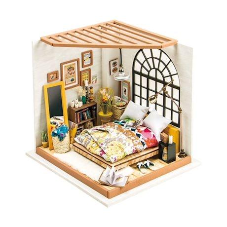 DIY Miniature Bedroom Kit