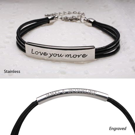LOVE YOU MORE BRACELET - STAINLESS STEEL (ENGRAVED)