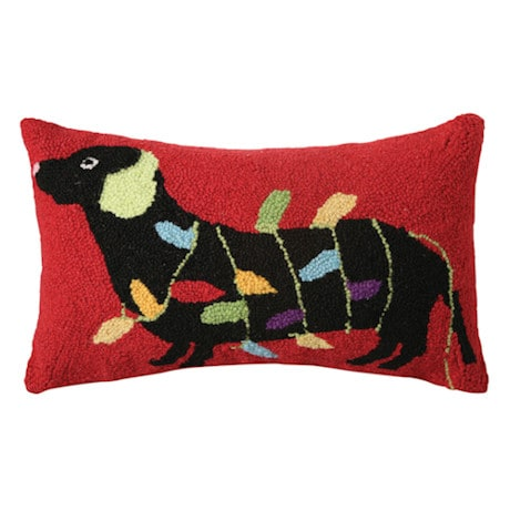 Christmas Pet Pillow - Doxie