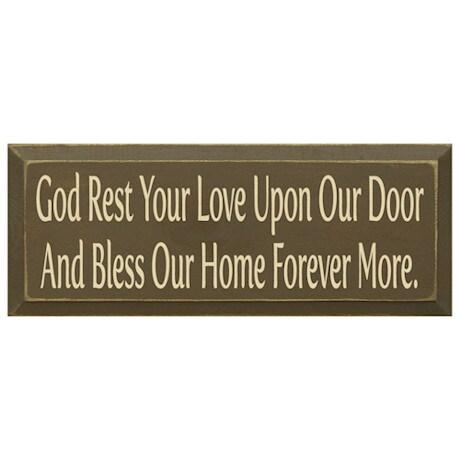 God Rest Your Love Plaque