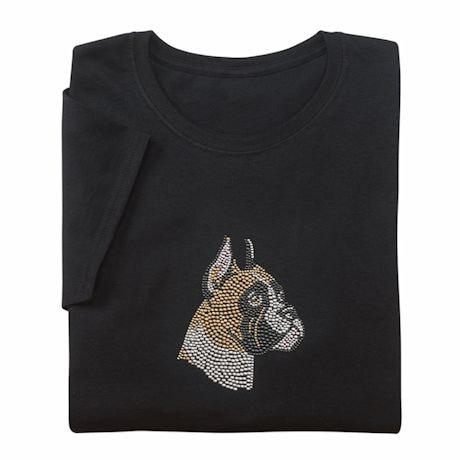 Rhinestone Dog Ladies T-Shirts
