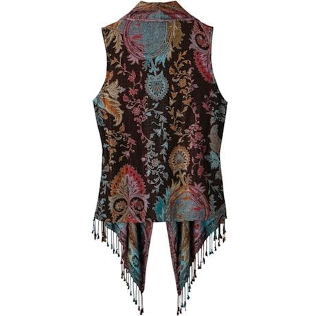 Lisbon Reversible Fringed Vest