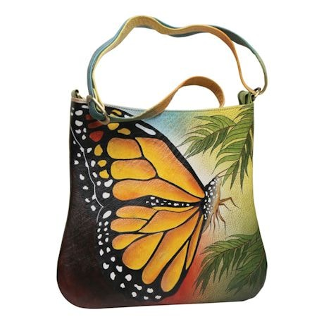 Handpainted Butterfly Bag