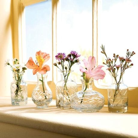 Petite Clear Glass Vases Set