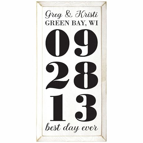 Personalized 'Best Day Ever' Wood Wall Art - Vertical