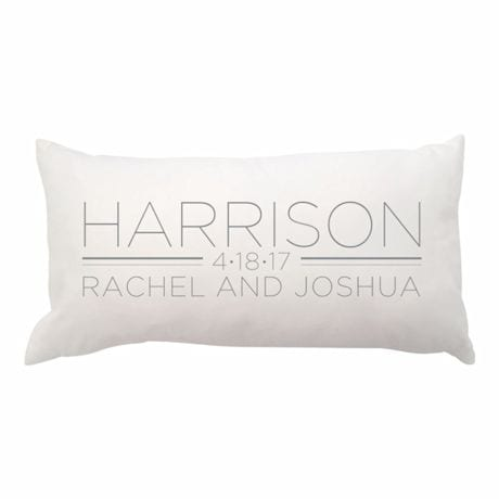 Personalized Family Name And Date Pillow