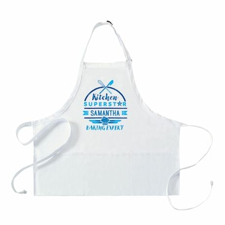 """Personalized Adult's """"Kitchen Superstar"""" Apron"""