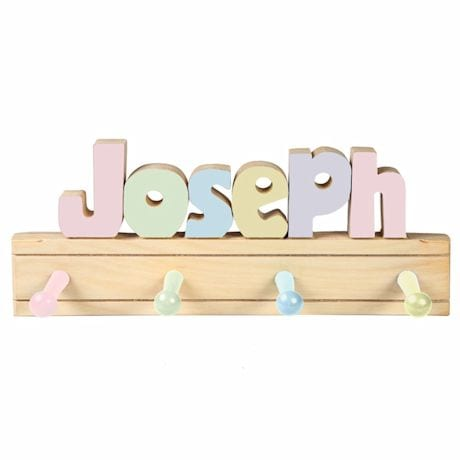 Personalized Children's Wooden Coat Rack - 1-6 Letters