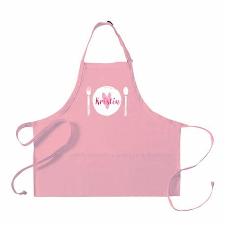 """Personalized Adult's """"Place Setting"""" Apron"""