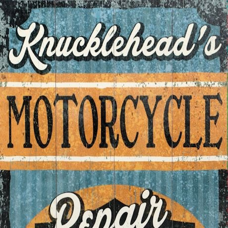 "Personalized Harley-Davidson® ""Repair & Restoration"" Wood Wall Art"