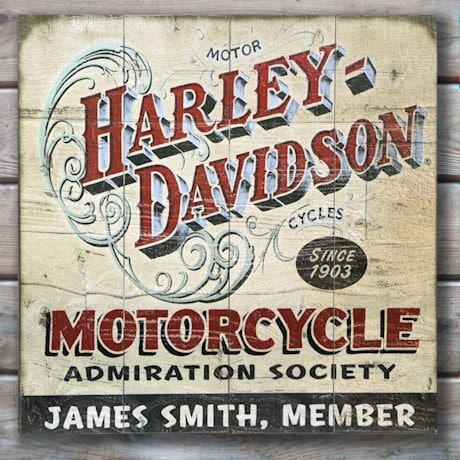 ... Wall Art Personalized Harley Davidson® Motorcycle  Part 70