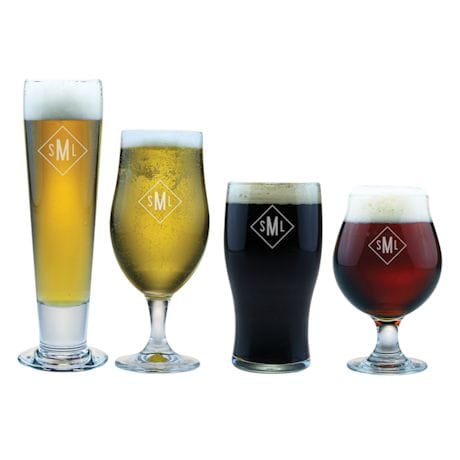 Personalized Craft Beer Assortment - Monogram