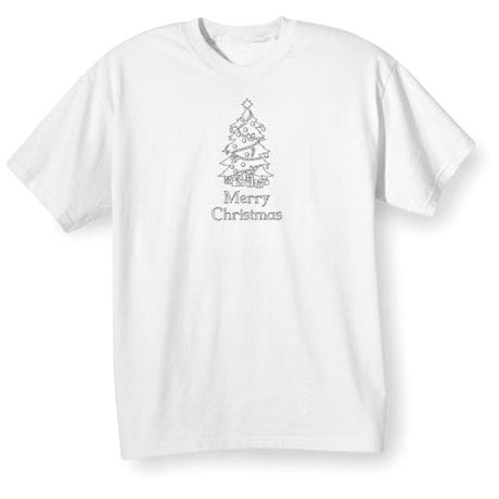 Children's Color Your Own Christmas Tree T-Shirt