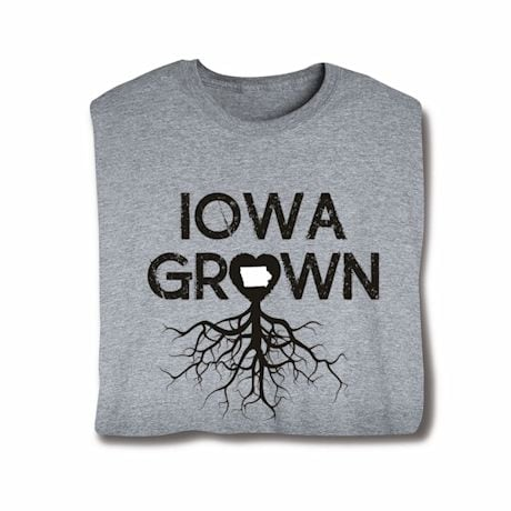"""Homegrown"" T-Shirt - Choose Your State - Iowa"