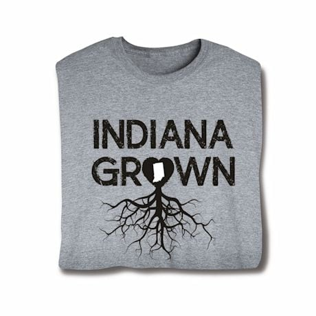"""Homegrown"" T-Shirt - Choose Your State - Indiana"