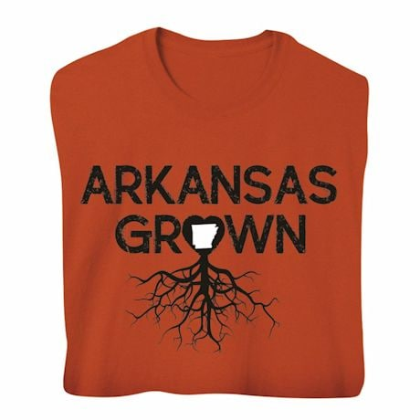 """Homegrown"" T-Shirt - Choose Your State - Arkansas"