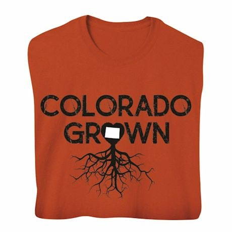 """Homegrown"" T-Shirt - Choose Your State - Colorado"