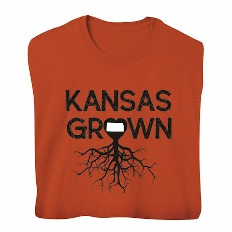 """Homegrown"" T-Shirt - Choose Your State - Kansas"