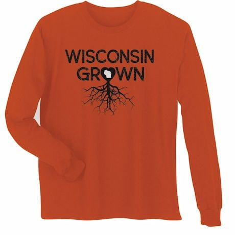 """""""Homegrown"""" T-Shirt - Choose Your State - Wisconsin"""