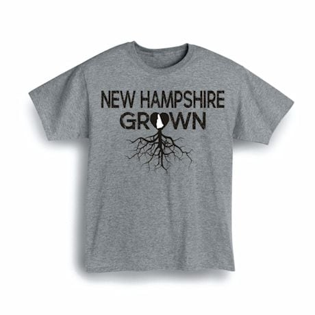 """""""Homegrown"""" T-Shirt - Choose Your State - New Hampshire"""