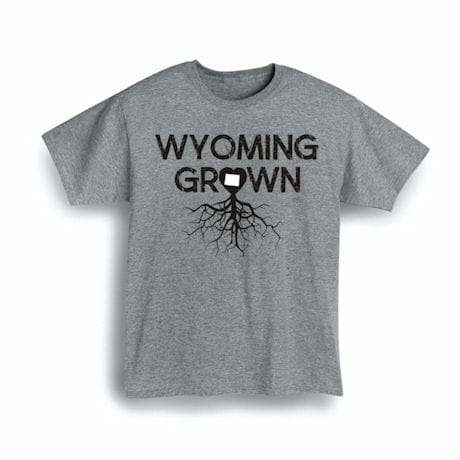 """""""Homegrown"""" T-Shirt - Choose Your State - Wyoming"""