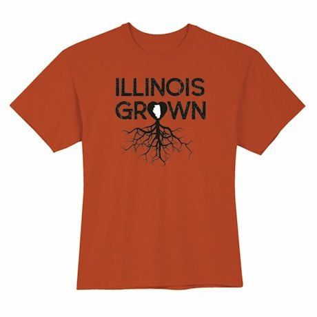 """""""Homegrown"""" T-Shirt - Choose Your State - Illinois"""