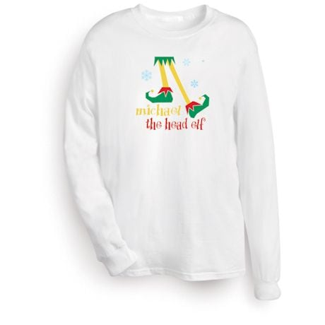 "Personalized ""Head Elf"" Shirt"