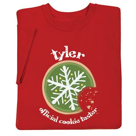 Personalized 'Official Cookie Taster' Shirt