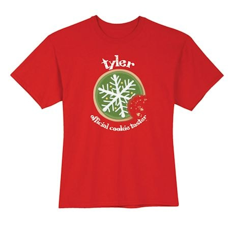 "Personalized ""Official Cookie Taster"" Shirt"