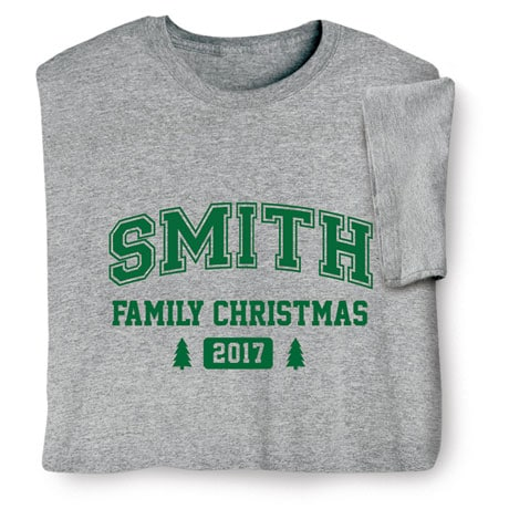 Personalized Family Christmas Tree Shirt