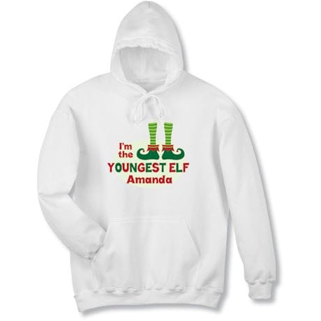 """Personalized """"Youngest Elf"""" Shirt"""