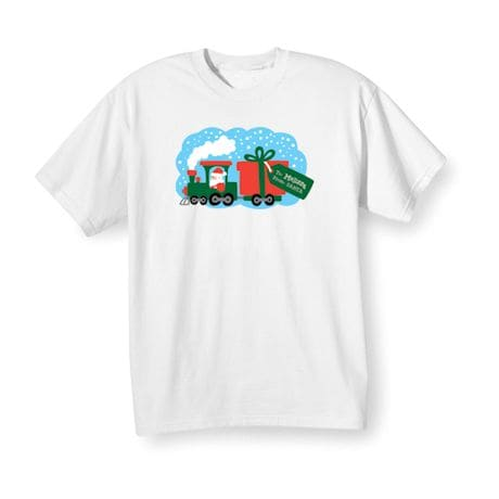 Personalized Children's Christmas Locomotive Shirt