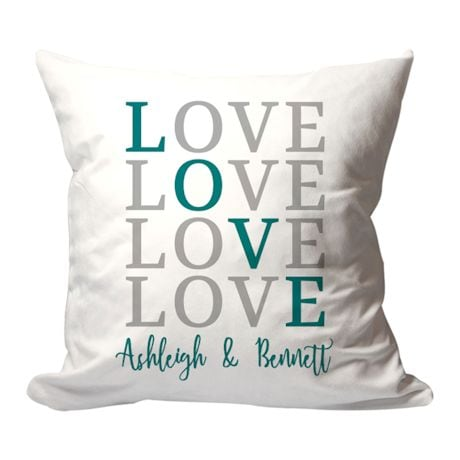 "Personalized ""Love"" Pillow"