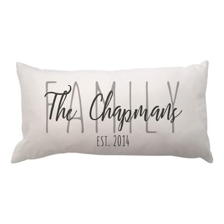 Personalized Family Lumbar Pillow