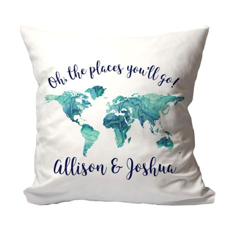 "Personalized ""Places You Will Go"" Pillow"
