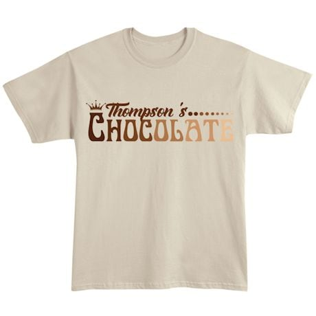 "Personalized ""Your Name"" Gradient Chocolate Tee"