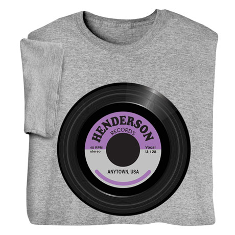 "Personalized ""Your Name"" Vintage Record Tee"