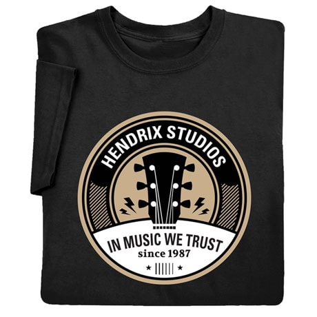 "Personalized ""Your Name"" In Music We Trust Tee"